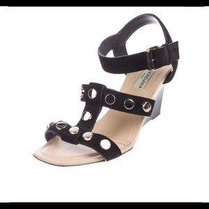 Authentic Balenciaga studded wedge Sandals